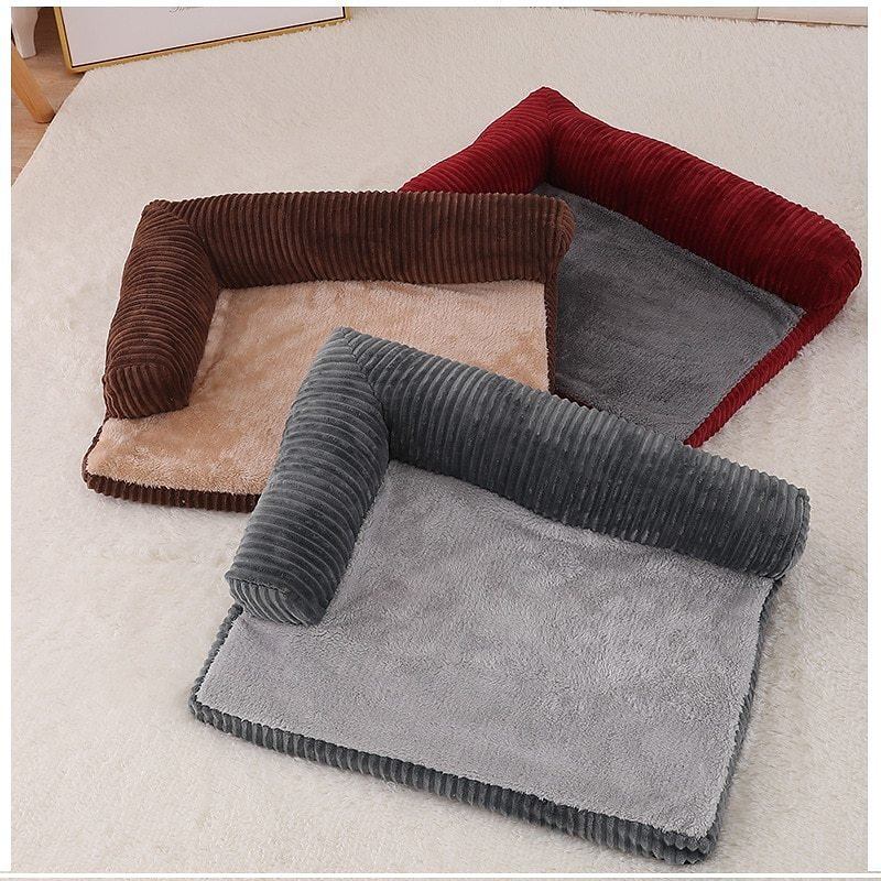 US $19.2 26% OFF|Dog Bed Soft L Shaped Chaise Lounge Sofa Cushion Pet Cat Dog Bed Couch Fleece Warm Dog Beds For Small Large Dogs Puppy Kennel|Houses, Kennels & Pens| - AliExpress