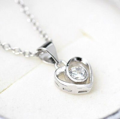 925 Sterling Silver Plating Fashion Women Crystal Pendant Jewelry Wholesale #6