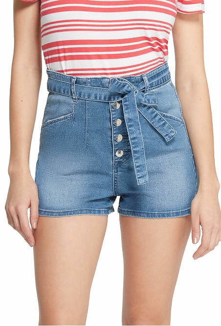 Kato High-Rise Button Front Shorts