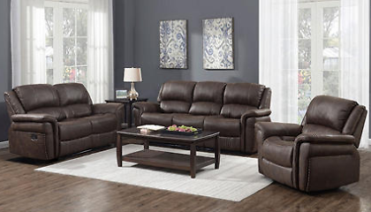 Charles 3-Piece Manual Sofa, Loveseat and Recliner - Sam's Club