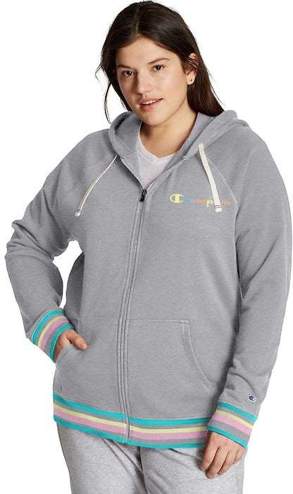 Champion Women's Plus Campus French Terry Zip Hoodie, 2X