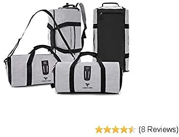 KINGSLONG Duffel Backpack Sports Gym Bag with Wet Pocket & Shoes Compartment Travel Luggage Weekender Bag for Women & Men