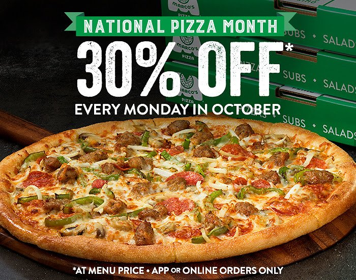 30% Off Every Mondays In October