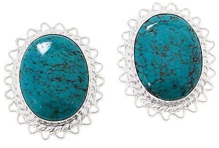 Exclusive! Jay King Sterling Silver Hubei Turquoise Stud Earrings