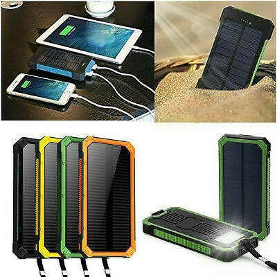 50000mAh Solar Power Bank Waterproof 2 USB LED Battery Charger For Cell Phone UK