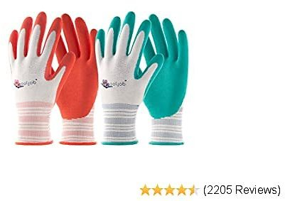 30% OFF COOLJOB Gardening Gloves for Women 6 Pairs Red & Green