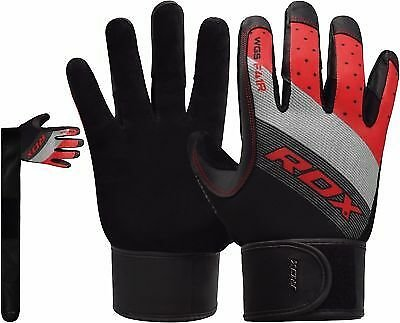 RDX Weight Lifting Gym Gloves Training Body Building Exercise Fitness Yoga CA