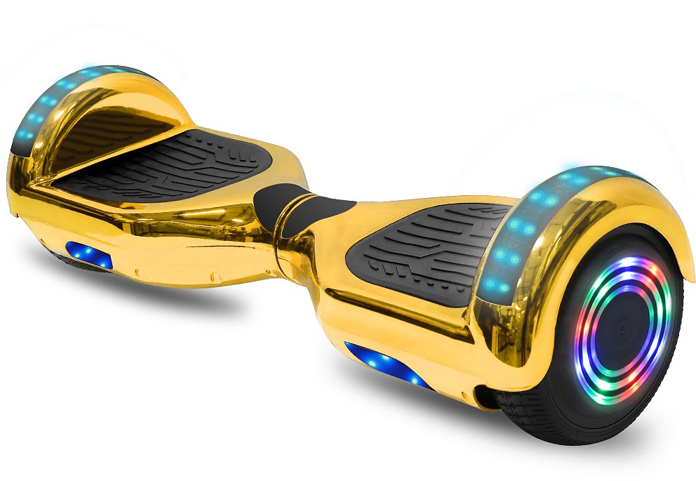 CHO Electric Self Balancing Dual Motors Two-Wheel Scooter Hoverboard with Built-in Speaker and LED Lights 6.5
