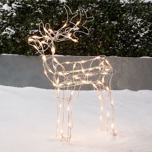 Holiday Time Light-Up Buck Outdoor Christmas Décor, 30 in
