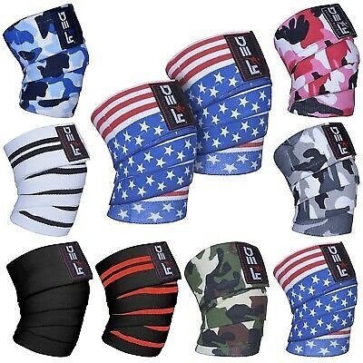 DEFY Weight Lifting Knee Wraps Training Fist Straps Power Lifter Gym Support 78