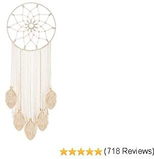Mkono Macrame Dream Catcher Woven Feather Large Wall Hanging Handmade Dreamcatcher Boho Tassels Decoration Home Decor Ornament Craft Gift, 36 X 13 Inches