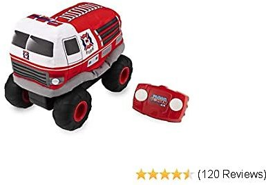 Plush Power RC, Remote Control Fire-Truck with Soft Body and 2-Way Steering, for Kids Aged 3 and Up