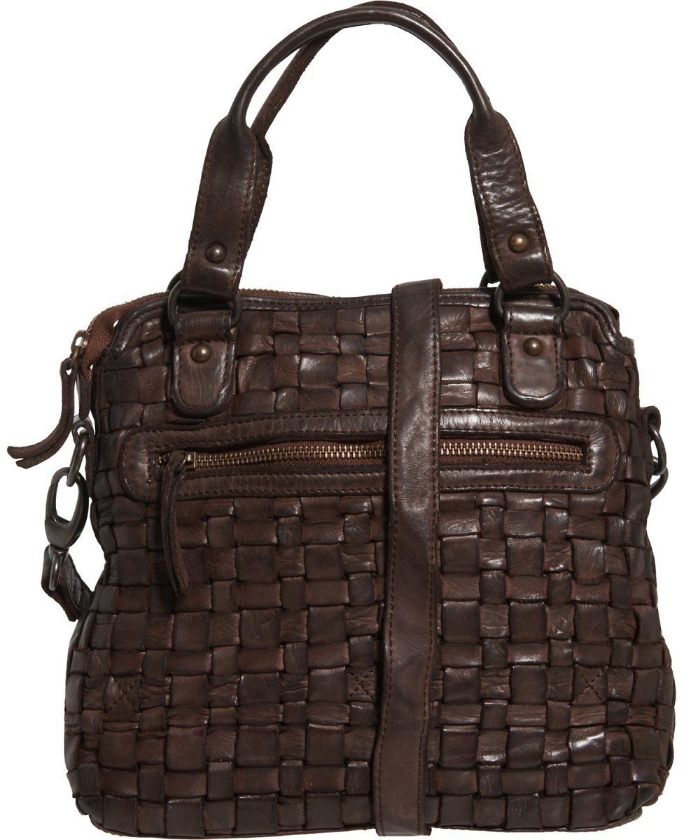 Conti Woven Crossbody Bag - Leather (For Women)