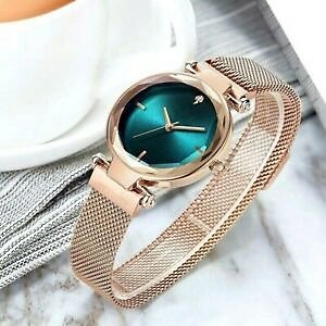 GENEVA Women Ladies Watch Gold Silver Black White Alloy Mesh Band Wrist Watches