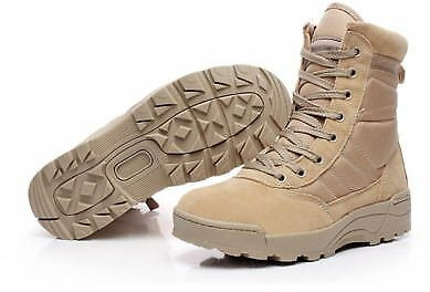 Mens Desert Tactical Military Ankle Boots Work Safty Shoes Army Boot Combat Boot