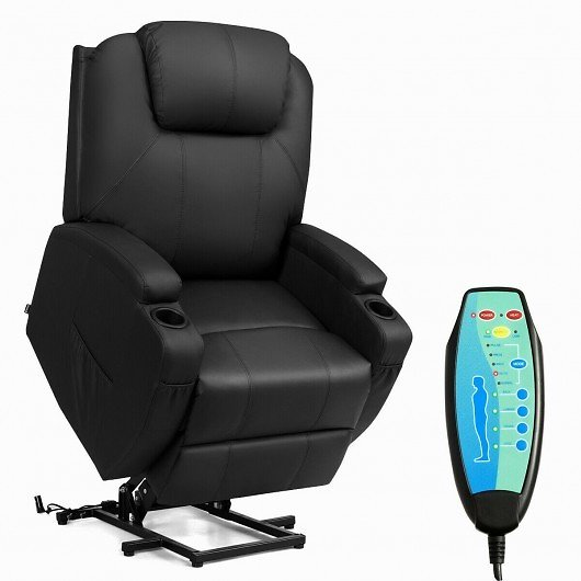 Electric Lift Power Recliner Heated Vibration Massage Chair