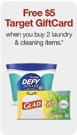Target : Get $5 Gift Card On Purchase of Select Laundry & Cleaning Items