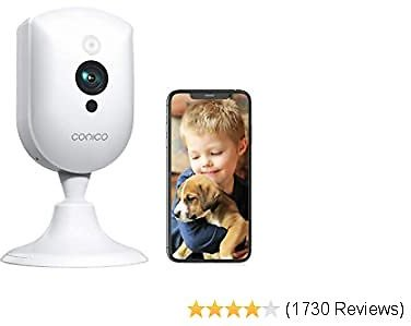 Baby Monitor, Conico 1080P Home Security Camera with Sound Motion Detection IR Night Vision