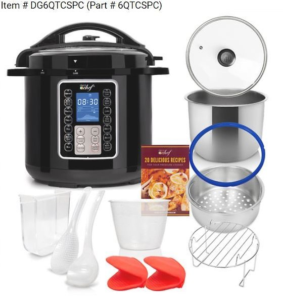 30% OFF | Deco Chef 6 QT 10-in-1 Pressure and Slow Cooker - Multi-Mode Cooking with Accessories | BuyDig.com