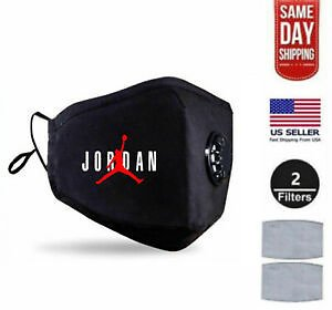 Jordan Face Mask Red Filter Washable Reusable Fashion Nike FaceMask Cover Valve