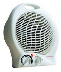 White Small Quiet Portable 2000W Electric Floor & Upright Fan Heater Daewoo