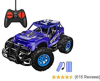 Remote Control Car - Durable Non-Slip Off-Road Shockproof RC Racing Car (Dark Blue) RC Toys Car for Kid 3 4 5 6 7 8 9 Year Old Boys and Girls Best Gifts