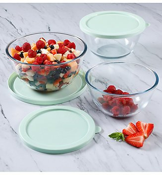 Martha Stewart Collection 6-Pc. Glass Food Storage Bowl Set with Lids & Reviews - Home
