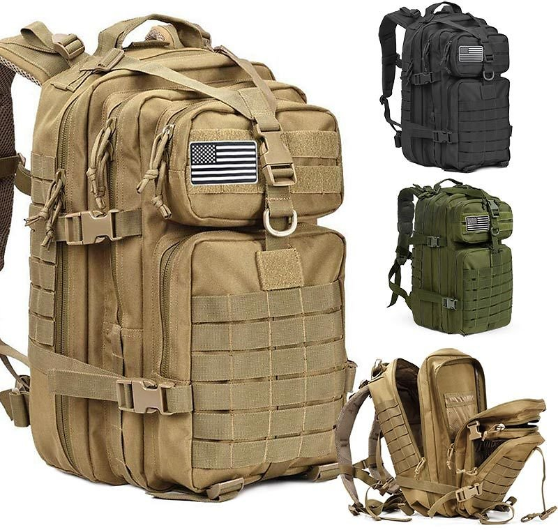 US $11.7 87% OFF|50L Capacity Men Army Military Tactical Large Backpack Waterproof Outdoor Sport Hiking Camping Travel 3D Rucksack Bags For Men|Backpacks| - AliExpress