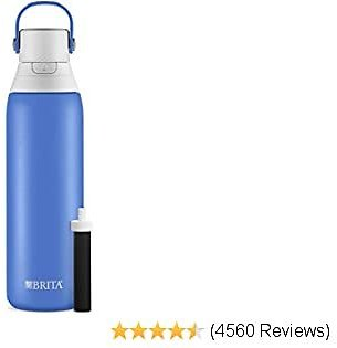 Brita Premium Filtering Water Bottle, 20 Oz, (Muti Colors)