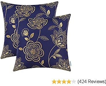 CaliTime Pack of 2 Soft Throw Pillow Covers for Couch Sofa Home Decoration