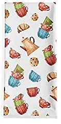 Artoid Mode Teacup Dessert Home Kitchen Dish Towels, 18 X 28 Inch Fall Harvest Thanksgiving Holiday Party Ultra Absorbent Drying Cloth Tea Towels for Cooking Baking Set of 1