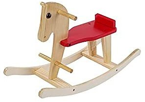 Wooden Rocking Horse - Rocking Horse Kids Ride-On Toys for 1-3 Year Old, Toddler Small Foot Wooden Toys Animal Indoor/Outdoor, Ride On Toy for Infant Christmas/Birthday Gift
