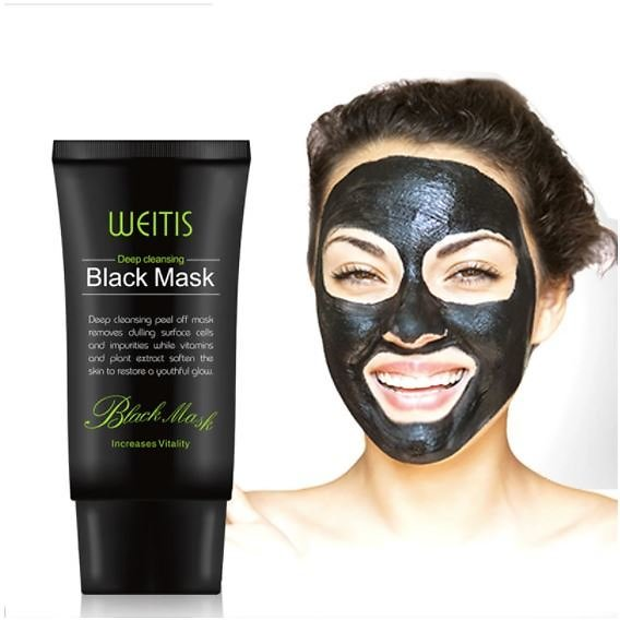 50ml Bamboo Charcoal New Suction Face Deep Cleansing Black Mud Mask Blackhead Remover Peel-Off Mask Easy to Pull Out Blackheads