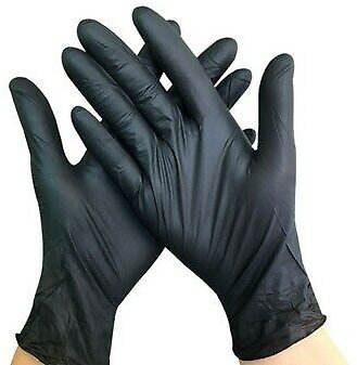 100 Disposable Vinyl Gloves Powder & Latex Free Work Strong Tattoo Food Nitrile