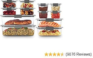 24-Pc Rubbermaid Brilliance Storage Containers