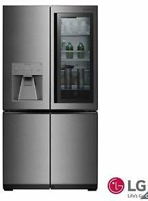 LG Signature LSR100 Side By *Side Fridge Freezer A+ Rating in Silver-*
