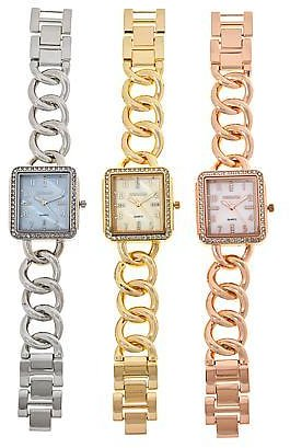 Exclusive! Kessaris 3-piece Crystal-Accented Mother-of-Pearl Dial Watch Set