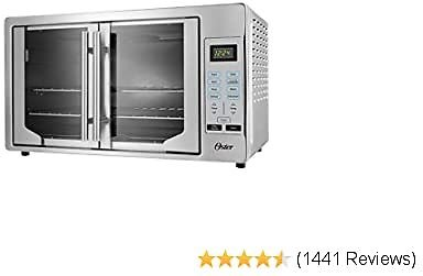 Oster French Convection Countertop and Toaster Oven   Single Door Pull and Digital Controls   Stainless Steel, 2020