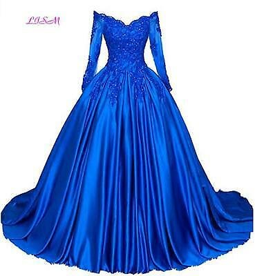 Luxury Ball Gown Prom Dresses Quinceanera Burgundy Off Shoulder Lace Formal Gown