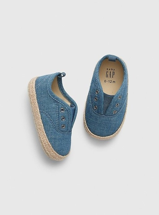 Baby Chambray Espadrille Slip-On Sneakers