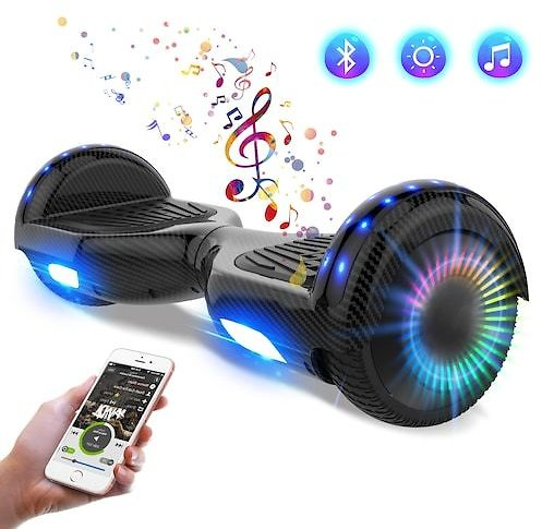 Hoverboard for Kids and Adults with Bluetooth LED Flash Lights Electric Scooter with Powerful Motors Great Toy and Gift for Children