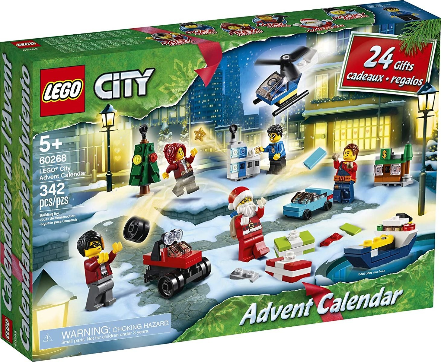 32% Off LEGO City Advent Calendar Playset, Includes 6 City Adventures TV Series Characters, Miniature Builds, City Play Mat