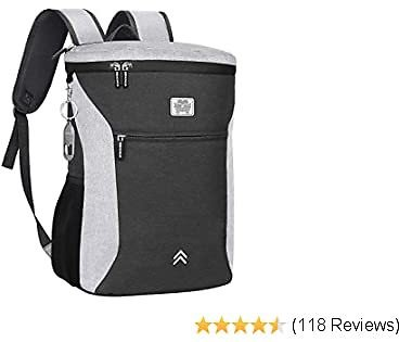 SEEHONOR Insulated Backpack Cooler, Leakproof Spacious Lightweight Soft Lunch Bag Cooler Backpack for Men Women to Work Hiking Beach Picnic Camping, 26 Cans