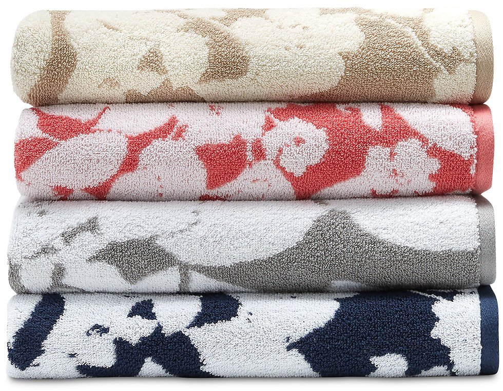 Sanders Antimicrobial Floral Hand Towels (4 Colors)