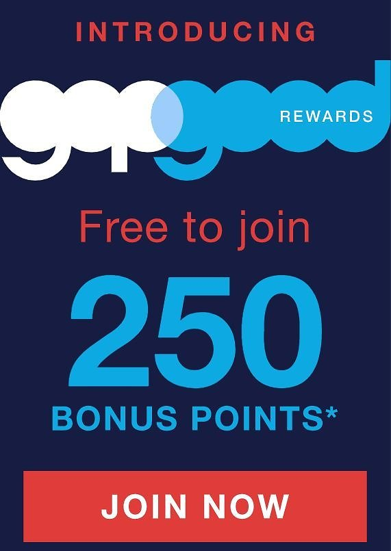 Enroll in New Gap Good Rewards & Get 250 Bonus Points