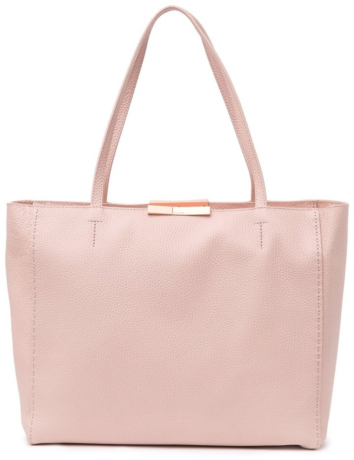 Ted Baker London | Soft Grain Leather Shopper Tote & Pouch | Nordstrom Rack