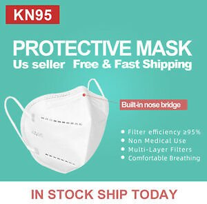 50 PCS KN95 Protective Face Mask, No N95, Non Medical Surgical Disposable Masks