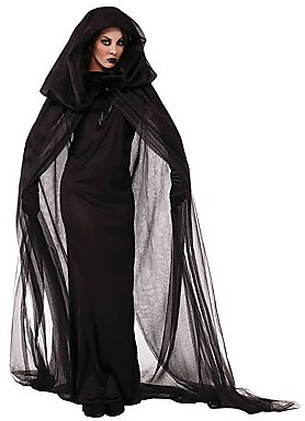 Witch Women's Halloween Festival / Holiday Polyester Black Women's Female Easy Carnival Costumes Solid Colored