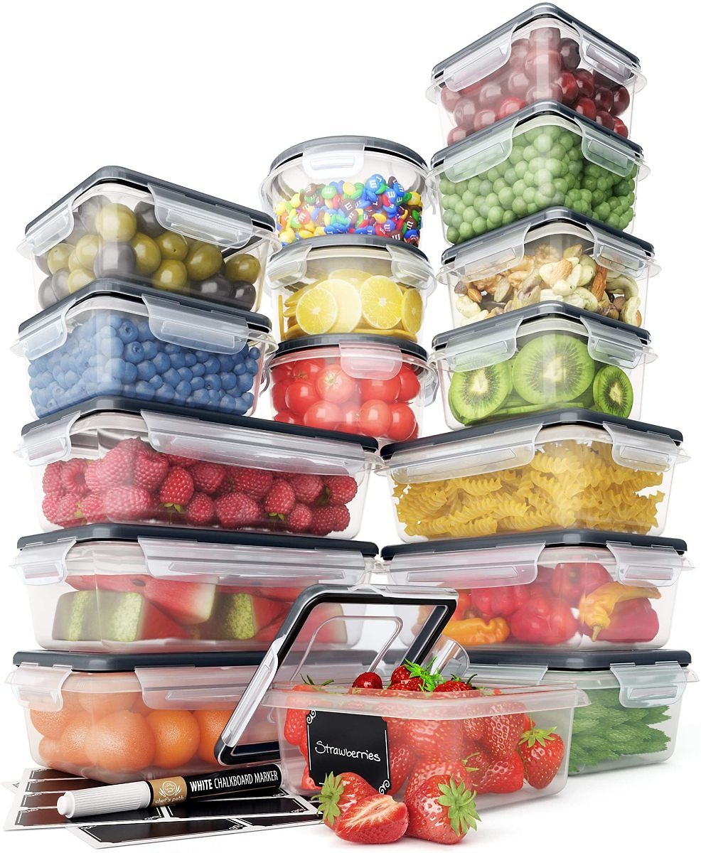 Chef's Path 16 PC Food Storage Containers Set - BPA Free