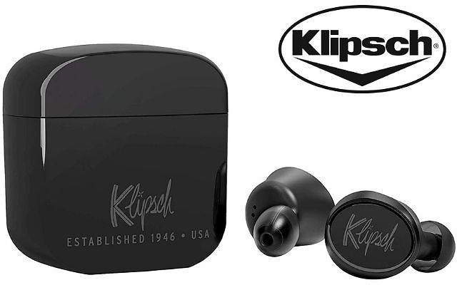 Klipsch T5 True Wireless Noise Cancelling Earbuds with Charging Case
